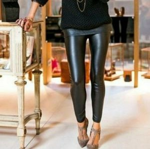 Shimmering Liquid Disco Black Leggings / Tights